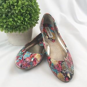 Steve Madden Amoree snakeskin multicolored flats
